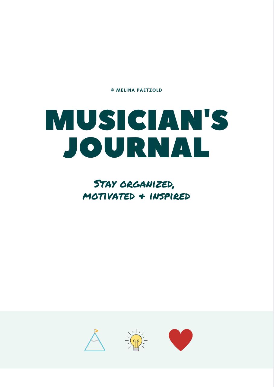 Musicians Journal, Übejournal, Übetagebuch, Noten, Melina Paetzold